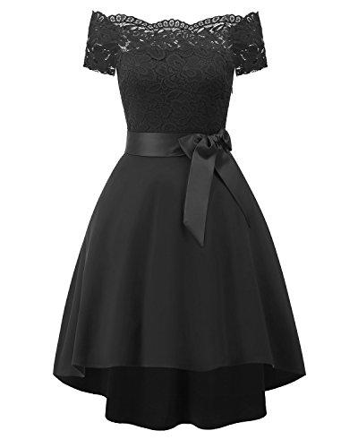 Y Un De Encaje Vestido black Un XIU RONG Mujer Vestido 5tHXnwq