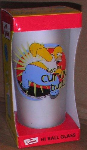 Simpsons Hi-Ball Glass: Homer Kiss My Curvy Butt! by Downpace Ltd. (Kiss Simpsons Homer)