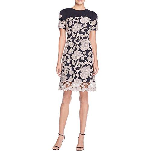 Tadashi Shoji Womens Petites Floral Lace Casual Dress Black 10P by Tadashi Shoji