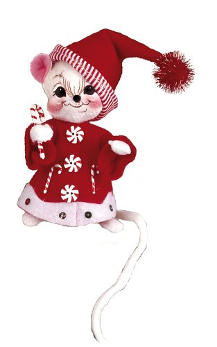 Candy Cane Stripe Mouse - Annalee 6-Inch Candycane Stripe Mice