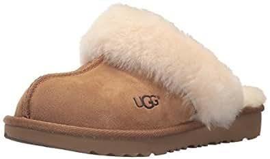 UGG Girls K Cozy II Slipper, Chestnut, 10 M US Toddler