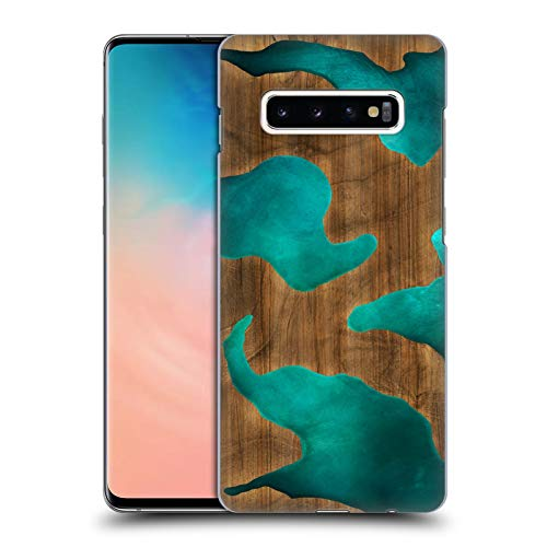 Official Alyn Spiller Aqua Wood & Resin Hard Back Case Compatible for Samsung Galaxy S10+ / S10 Plus