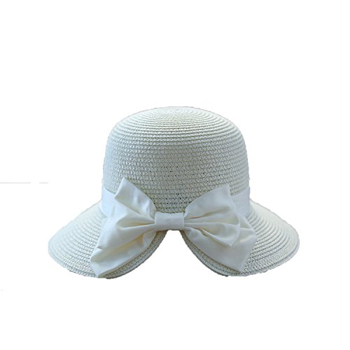 - Romantic moments Women's Beach Sun Hats 2018 Spring Summer New Hot Fashion Casual Bow Soft Straw Sun Hat,Oohit,One Size