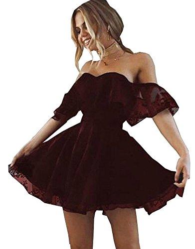 Dress Homecoming Bridesmaid Burgundy 2017 Short Prom Dresses Dresses wwUX8gxAq