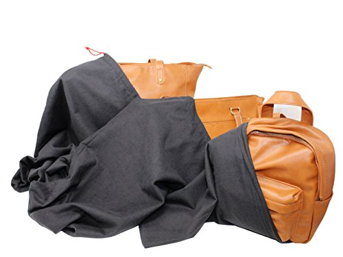 Earthwise Dust Bag Cover Handbags & Purses Black 100% Cotton Drawstring MADE IN THE USA 3 sizes (Pack of 3)