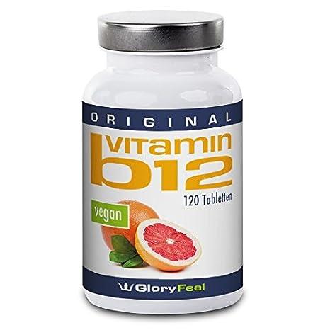 Vitamina B12 Metilcobalamina 1000µg - 120 tabletas veganas – Complejo Vitamina B12 concentrado con 1000 µg