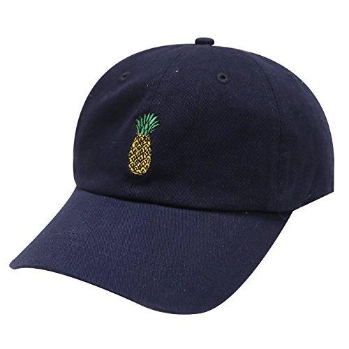City Hunter C104 Pineapple Cotton Baseball Cap Multi Colors (Navy) -