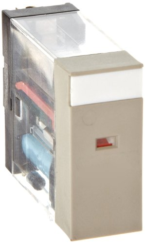 Omron G2R-2-SNI AC24(S) General Purpose Relay, LED Indicator with Test Button, Plug-In Terminals, Double Pole Double Throw Contacts, 43.5 mA at 50 Hz and 37.4 mA at 60 Hz Rated Load Current, 24 VAC Rated Load Voltage