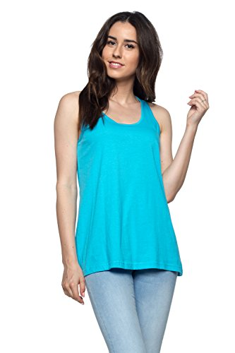 Loose Training Top - OSSAMI Women's Loose Fit Stylish Tank Top Relaxed Flowy Active Training Cheap Jersey Yoga Workout Aqua_XL