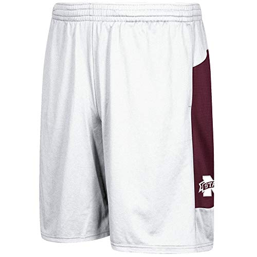 adidas Mississippi State Bulldogs NCAA Men's Climalite 2017 Sideline Player White Shorts ()