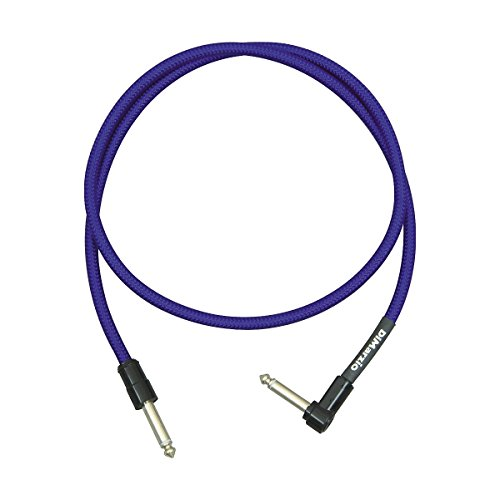 DiMarzio Jumper Cable Pedal Coupler Long Cable with 1 Straight and 1 Angled End Blue 36 In