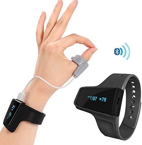 ixaer Overnight Wrist Oxygen Monitor Sleep Aid Heart Rate Monitor Alarm Wireless Bluetooth for Sleep Fitness Activity Tracker Free APP