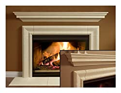 Wellington Thin Cast Stone Adustable Fireplace Mantel Kit - Complete Kit includes hearth by Premier Cast Works