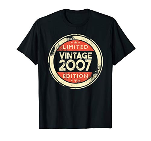 12th Birthday Gift Vintage 2007 T-Shirt- 12 Years Old Shirt 2007 Classic Logo T-shirt