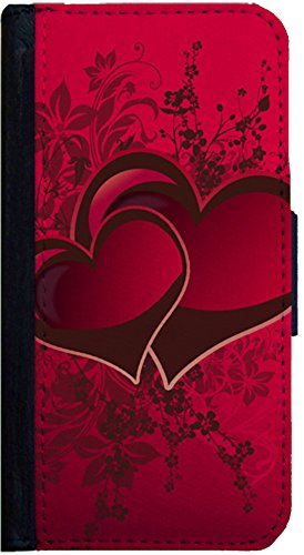 Two Red Heart Love Design Samsung Galaxy S3 Flip Case, Samsung Galaxy S3 Flap Cover, Pocket Case, Book Style Cover, Wallet Case, Bi-Fold Cover, by Sublifascination 374
