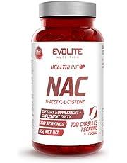EVOLITE N-acetyl L-cysteine 600 mg per stuk verpakt 100 capsules ontgifting spieropbouw NAC