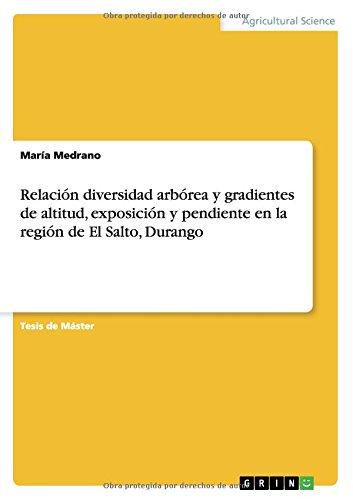 Relacion diversidad arborea y gradientes de altitud, exposicion y pendiente en la region de El Salto, Durango  [Medrano, Maria] (Tapa Blanda)