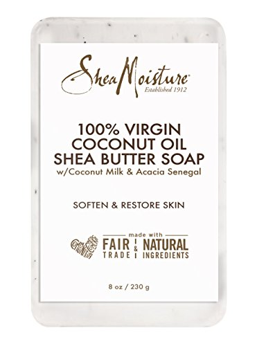 SheaMoisture 100% Virgin Coconut Oil Shea Butter Soap, 8 Ounce (Coconut Oil Soap Bar)
