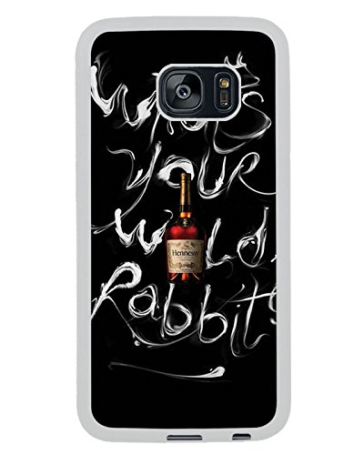 Hennessy Bottle White Shell Phone Case Fit For Samsung Galaxy S7 Edge,Beautiful Cover (Hennessy Bottle Cover)
