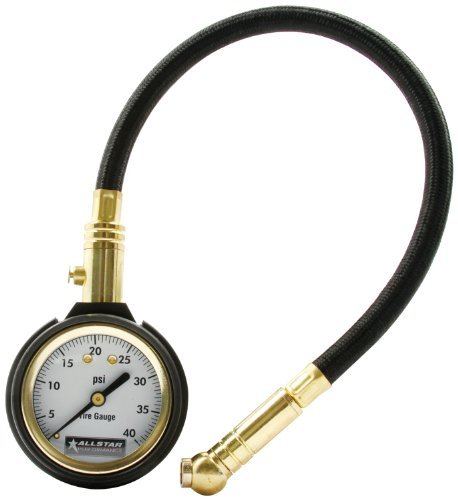 Allstar ALL44077 2 Face 12 Hose 0-40 PSI Range Tire Pressure Gauge by Allstar