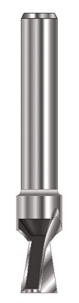 ENT Fraise queue d'arronde Carbure Queue (C) 8 mm, Diamètre (A) 6,35 mm, B 7,9 mm, E 7,5°, D 32 mm, sans arraseurs