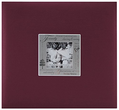 - MBI 13.2x12.5 Inch Expressions Postbound Album with 12x12 Inch Pages, Burgundy (803513)