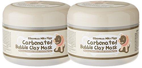 Elizavecca Milky Piggy Carbonated Bubble Clay Mask fXDwz, 2 Jars