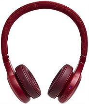 Fone de ouvido JBL Live 400 BT Bluetooth Ambient Aware e TalkThru Vermelho, com Alexa Integrada