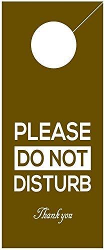 amazon com do not disturb sign 2 pack door hanger hotel door