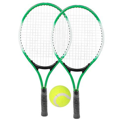 REHOMY 주니어 테니스 라켓 2 팩 21 철 합금 테니스 라켓과 테니스 공&CARRY BAG 초보자를 위한 청소년 연습 청소년