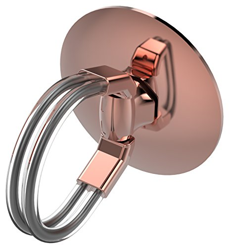 - Aduro Cell Phone Ring Holder, 3 in 1 Universal Phone Ring Stand Car Holder, Finger Grip Phone Holder for iPhone, Samsung Phone and Smartphones (Rose Gold)