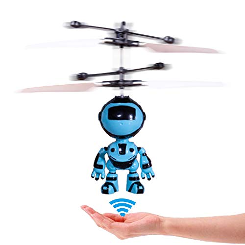 PALA PERRA RC Helicopter Flying Robot with Rechargeable Mini Infrared Induction Drone, RC Toys for Kids Boys Girls Indoor Games