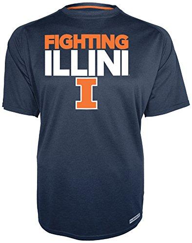 (NCAA Illinois Illini Mens Short Sleeve Crew Neck Jersey, Medium, Navy)