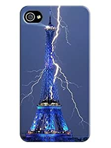 XYANW Eiffel tower and lightning picture of TUP new style scratch-proof phone case for iphone4
