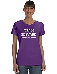TEAM EDWARD Except when Jacob is Shirtless on Women's Cotton T-Shirt (in 27 colors)