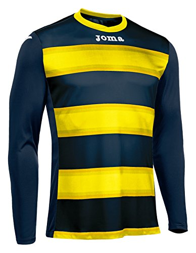 JOMA T-SHIRT EUROPA III DARK NAVY-YELLOW L/S S