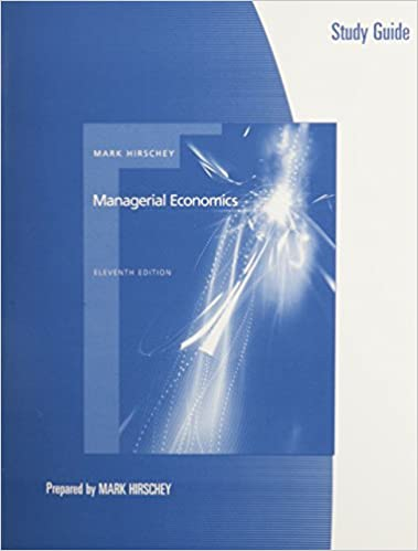Study guide for hirscheys managerial economics 11th mark hirschey study guide for hirscheys managerial economics 11th 11th edition fandeluxe Choice Image