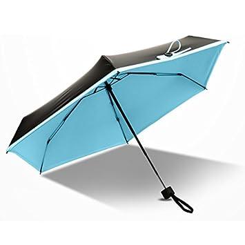 aaerp Fashion Mini paraguas de bolsillo compacto 5 paraguas de protección contra el sol UV plegable