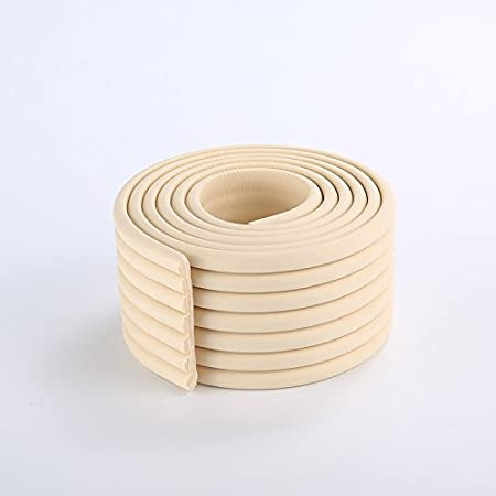 2x2m//13ft Thickened Wall Edge Bumper Shelf Edge Protector Furniture Safety Protection in Coffee Brown
