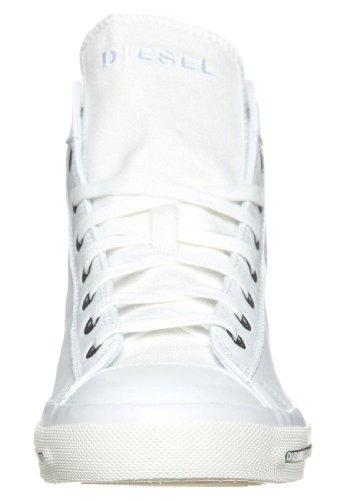 Diesel Exposure I Bianco Nero Cuoio Uomo Nuovo Hi Sneaker Scarpe Stivali