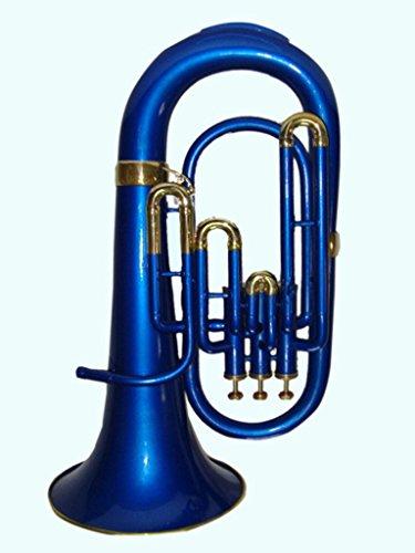 Global Art World Stunning Quality BB Flat Blue Brass Euphonium With Mouthpiece MI 035 by Global Art World