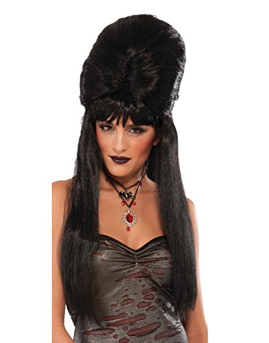 Black Temptress Costumes Wig (Adult's Gothic Dark Temptress Seductive Mysterious Wig Costume Accessory)