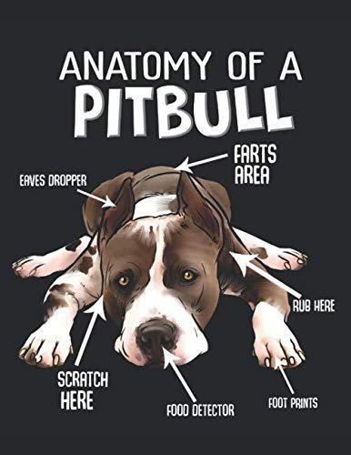 Anatomy-of-a-Pitbull-Planner-Weekly-and-Monthly-for-2020-Calendar-Business-Planners-Organizer-For-To-do-list-85-x-11-with-American-Pitbull-Terrier-Dog-Doggy-Lover-Pet-Animal