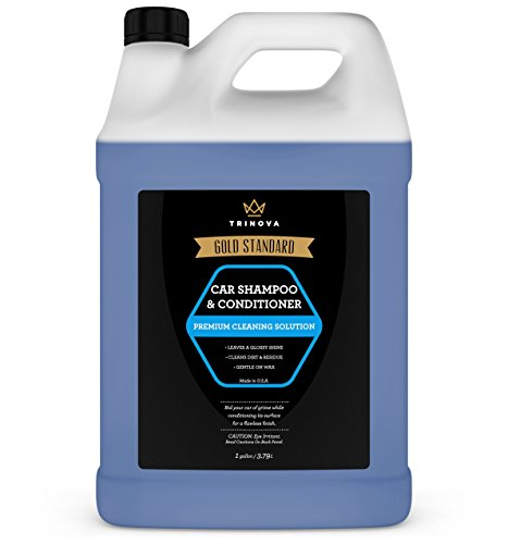 (Car Wash Gallon - Soap and Conditioner Clean and Condition Paint without Damaging Wax Protection - 18oz TriNova)
