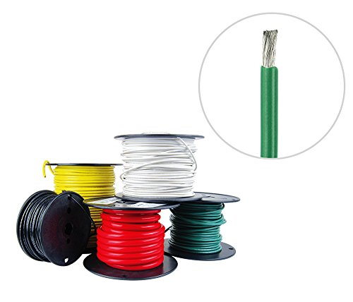 8 AWG Marine Wire - Tinned Copper Primary/Battery Boat Cable- 100 Feet - Green - Made in the USA (8 Awg Primary Wire)