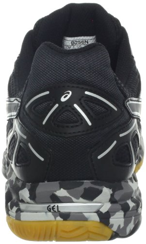 Asics - Zapatillas de voleibol para mujer Black-Charcoal-Silver