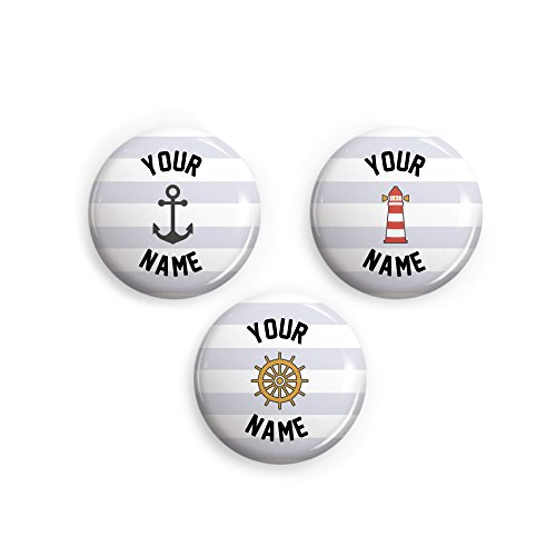 (Personalized Pinback Buttons (Nautical)
