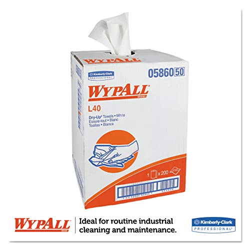 WypAll 05860 L40 Towels, Dry Up Towels, 19 1/2'' x 42'', White (Roll of 200 Towels) by Wypall (Image #2)