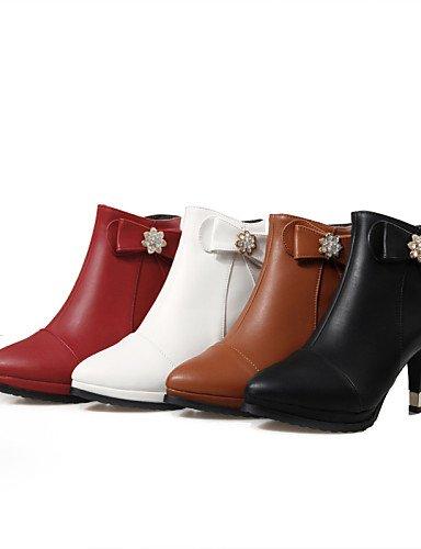 Zapatos 5 Casual Botas Semicuero us3 Vestido Eu4 Uk1 Eu33 Cn42 Plataforma La White Moda Tacón Eu41 Red 5 negro Xzz Marrón 10 Mujer us9 De 5 A 8 Cn32 Uk7 Stiletto Puntiagudos 5 d0OU7q