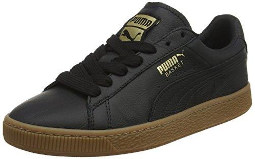 Unisexe Panier Pumas Adulte Sneaker Luxe Classique De Gomme, Noir (noir-or M